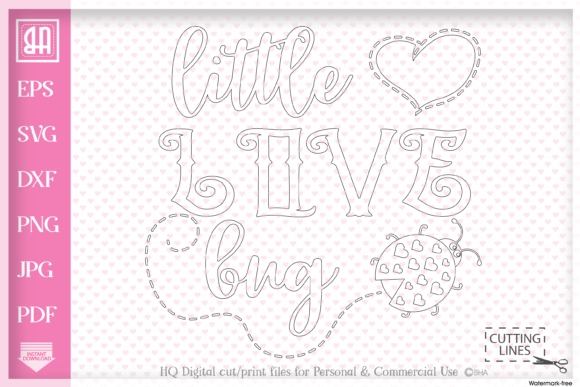 Download Free Little Love Bug Svg Graphic By Blueberry Hill Art Creative Fabrica for Cricut Explore, Silhouette and other cutting machines.