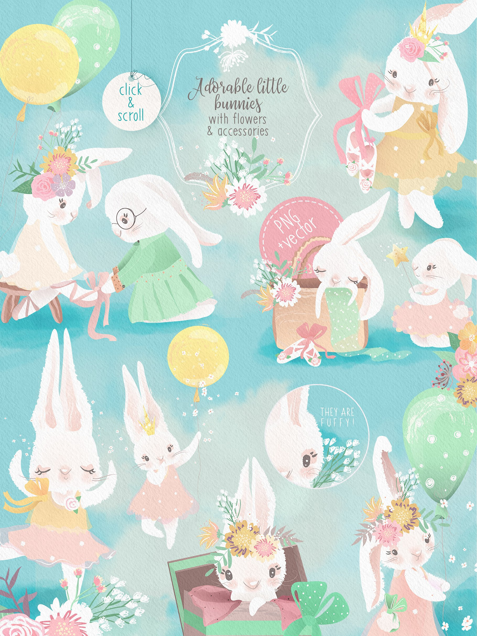 Download Free Little Pinky Bunny Graphic By Anna Babich Creative Fabrica SVG Cut Files