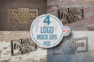 Print on Demand: Logo Mock-up Pack 15 Graphic Product Mockups By bywahtung