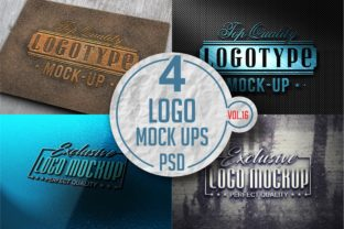 Print on Demand: Logo Mock-up Pack 16 Graphic Product Mockups By bywahtung