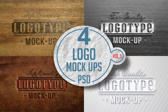 Print on Demand: Logo Mock-up Pack Graphic Product Mockups By bywahtung