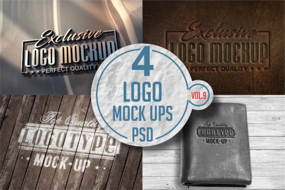 Print on Demand: Logo Mock-up Pack Graphic Product Mockups By bywahtung - Image 1