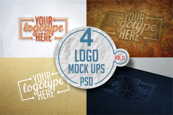 Print on Demand: Logo Mock-up Pack Gráfico Mockups de Productos Por bywahtung