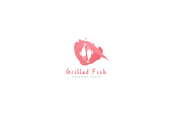 Download Free Logo Grilled Fish Restaurant Graphic By Indostudio Creative for Cricut Explore, Silhouette and other cutting machines.