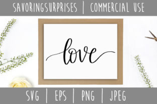 Download Free Love Hand Lettered Svg Graphic By Savoringsurprises Creative for Cricut Explore, Silhouette and other cutting machines.