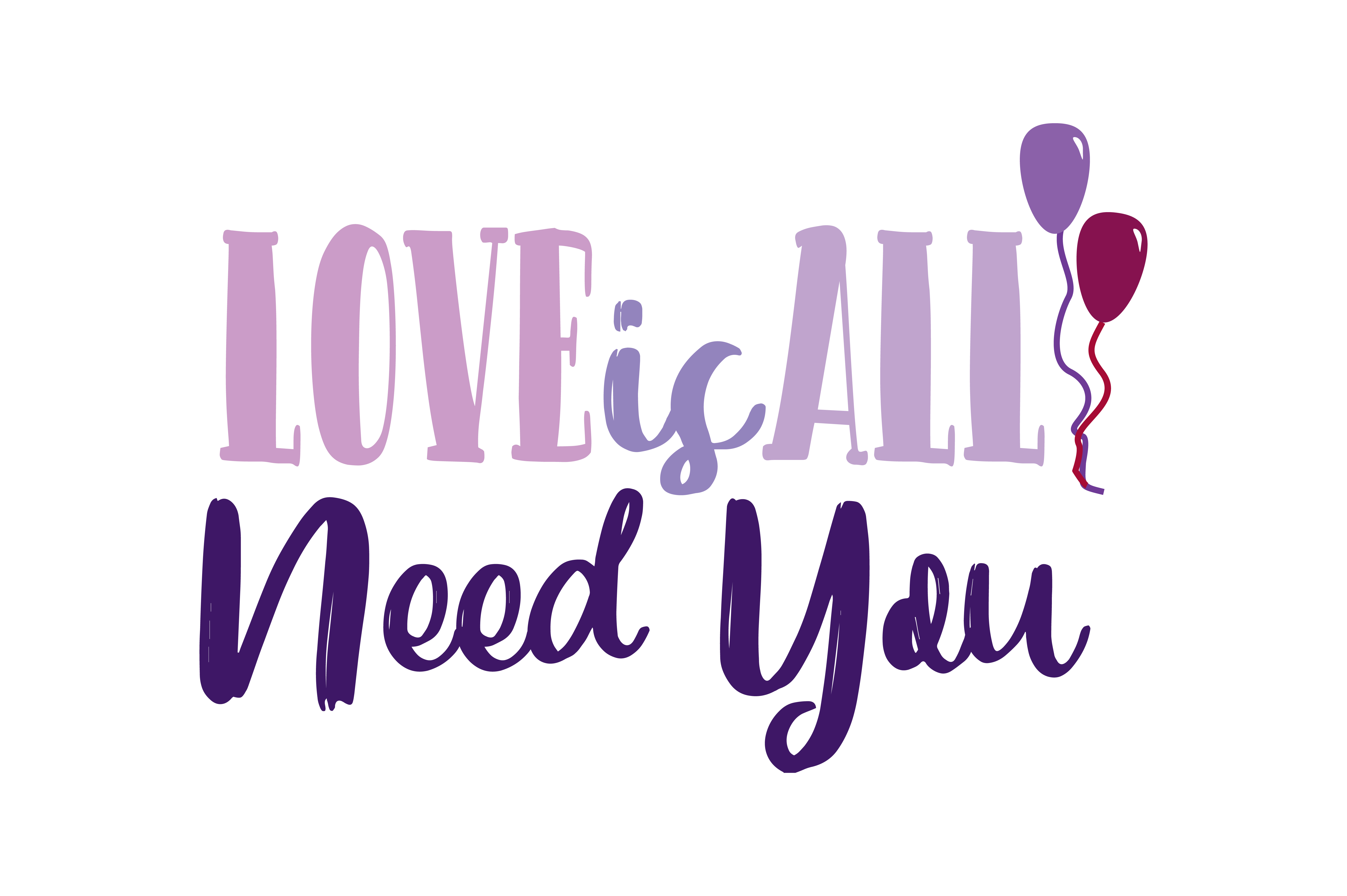 Download Free Love Is All Need You Quote Svg Cut Graphic By Yuhana Purwanti SVG Cut Files