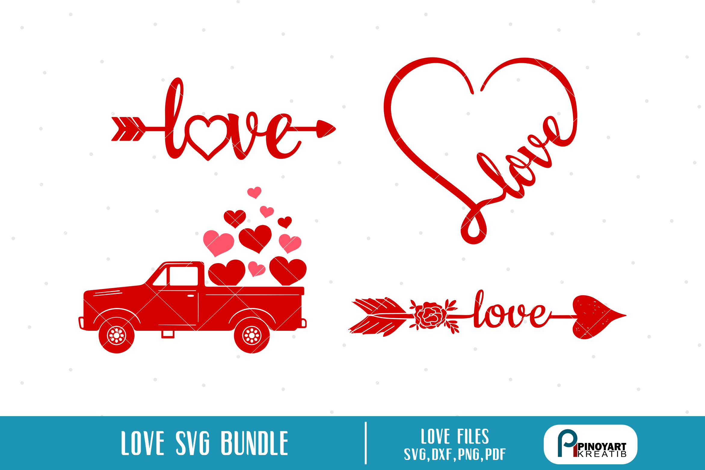 Download Free Love Bundle Graphic By Pinoyartkreatib Creative Fabrica for Cricut Explore, Silhouette and other cutting machines.