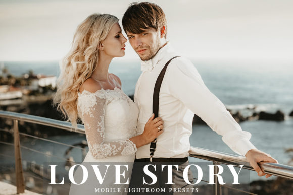 Print on Demand: Love Story Mobile Lightroom Presets Graphic Actions & Presets By Creative Tacos