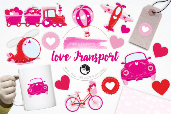 Print on Demand: Love Transport Graphic Illustrations By Prettygrafik - Image 1