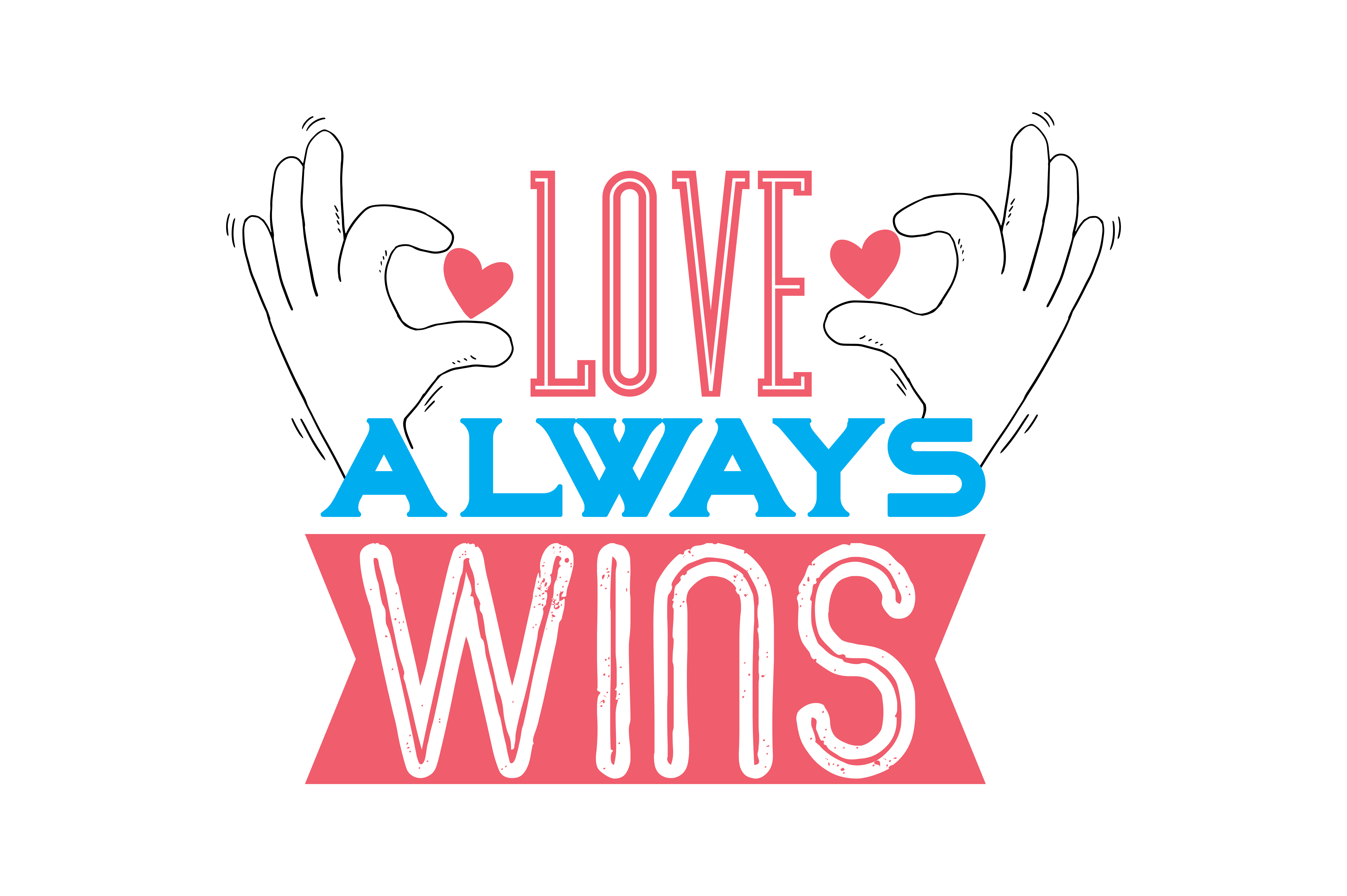 Download Free Love Always Wins Quote Svg Cut Grafico Por Thelucky Creative for Cricut Explore, Silhouette and other cutting machines.