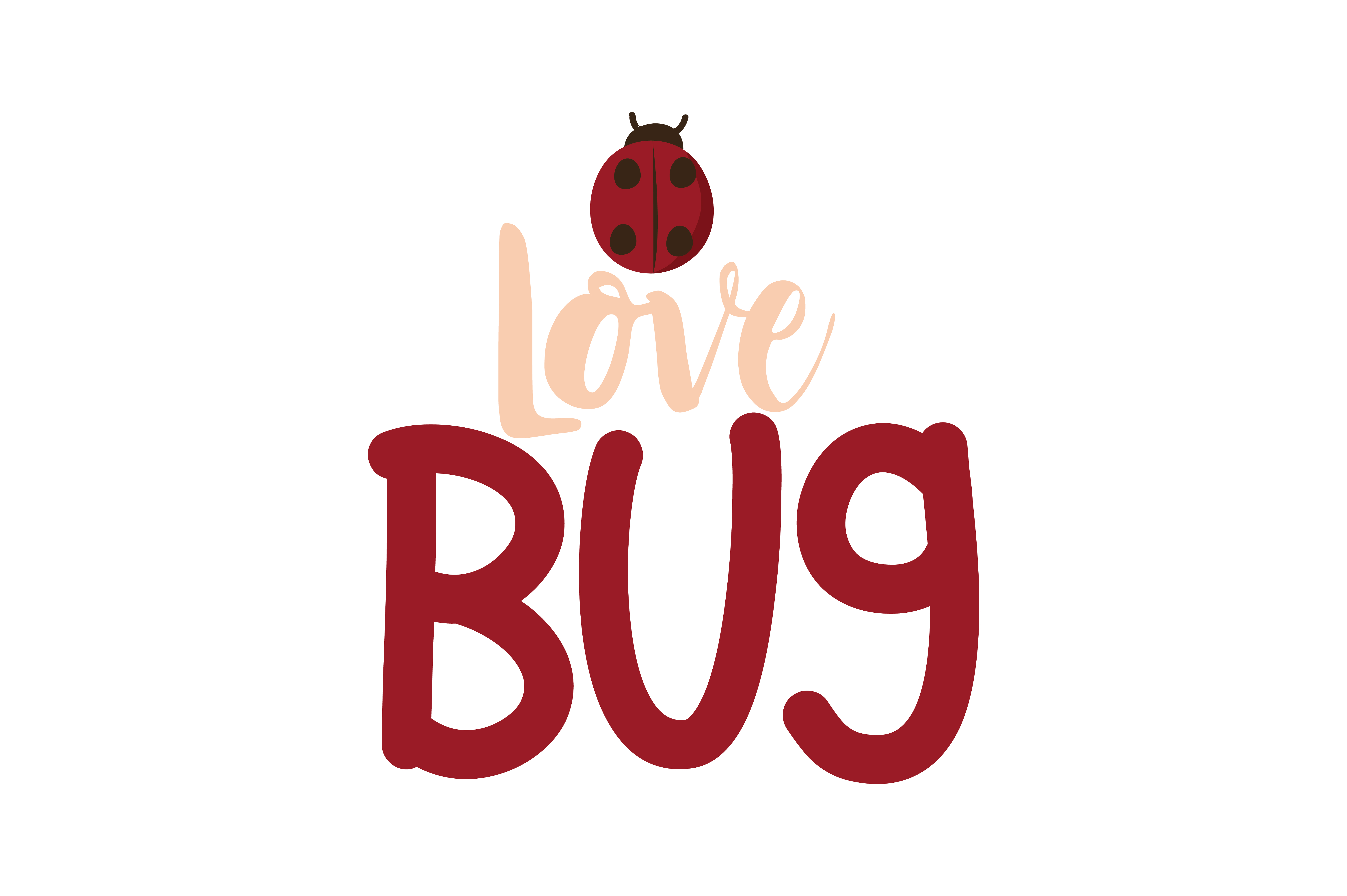 Download Free Love Bug Quote Svg Cut Graphic By Thelucky Creative Fabrica for Cricut Explore, Silhouette and other cutting machines.