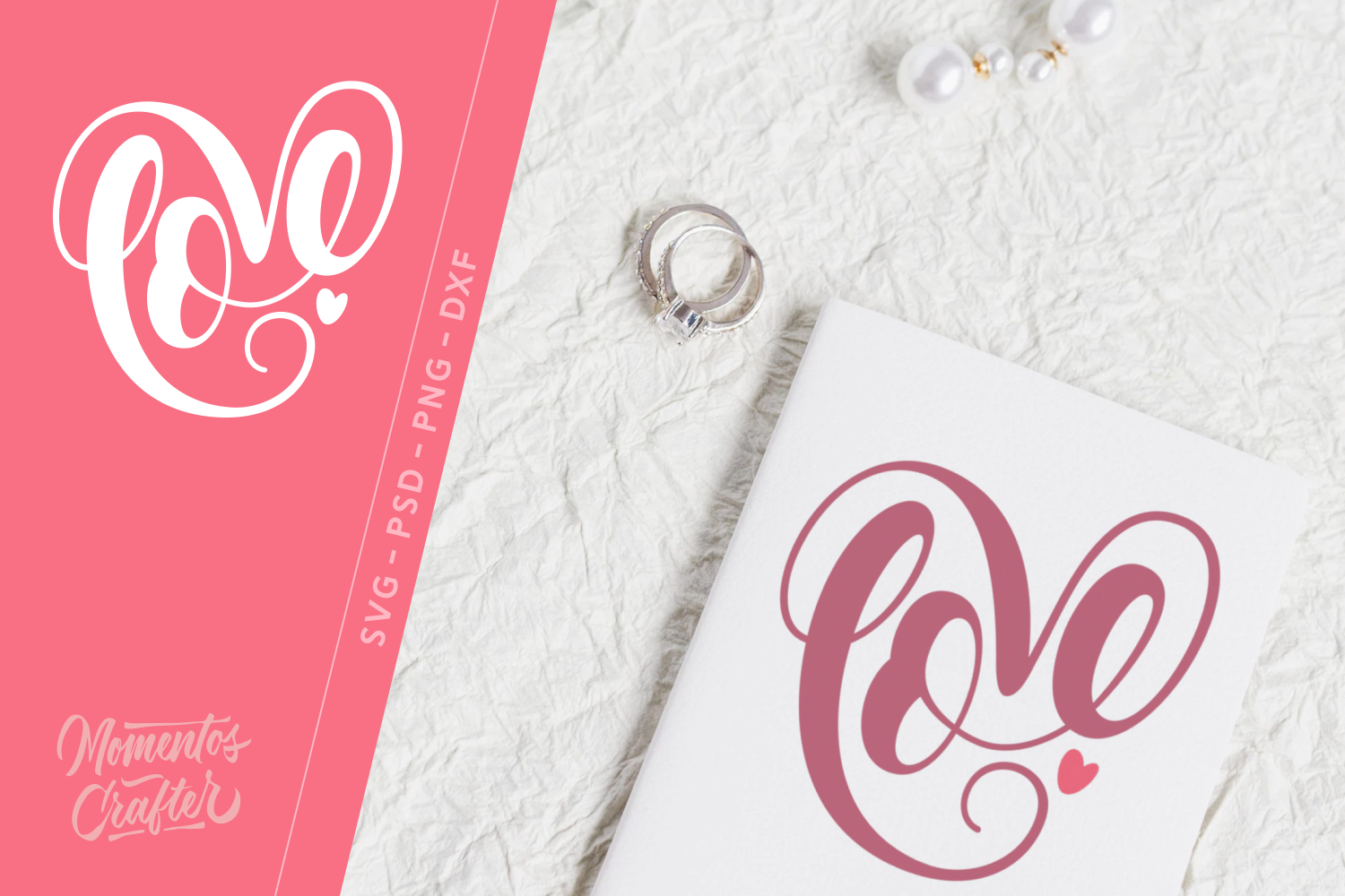 Download Free Love Graphic By Momentos Crafter Creative Fabrica for Cricut Explore, Silhouette and other cutting machines.