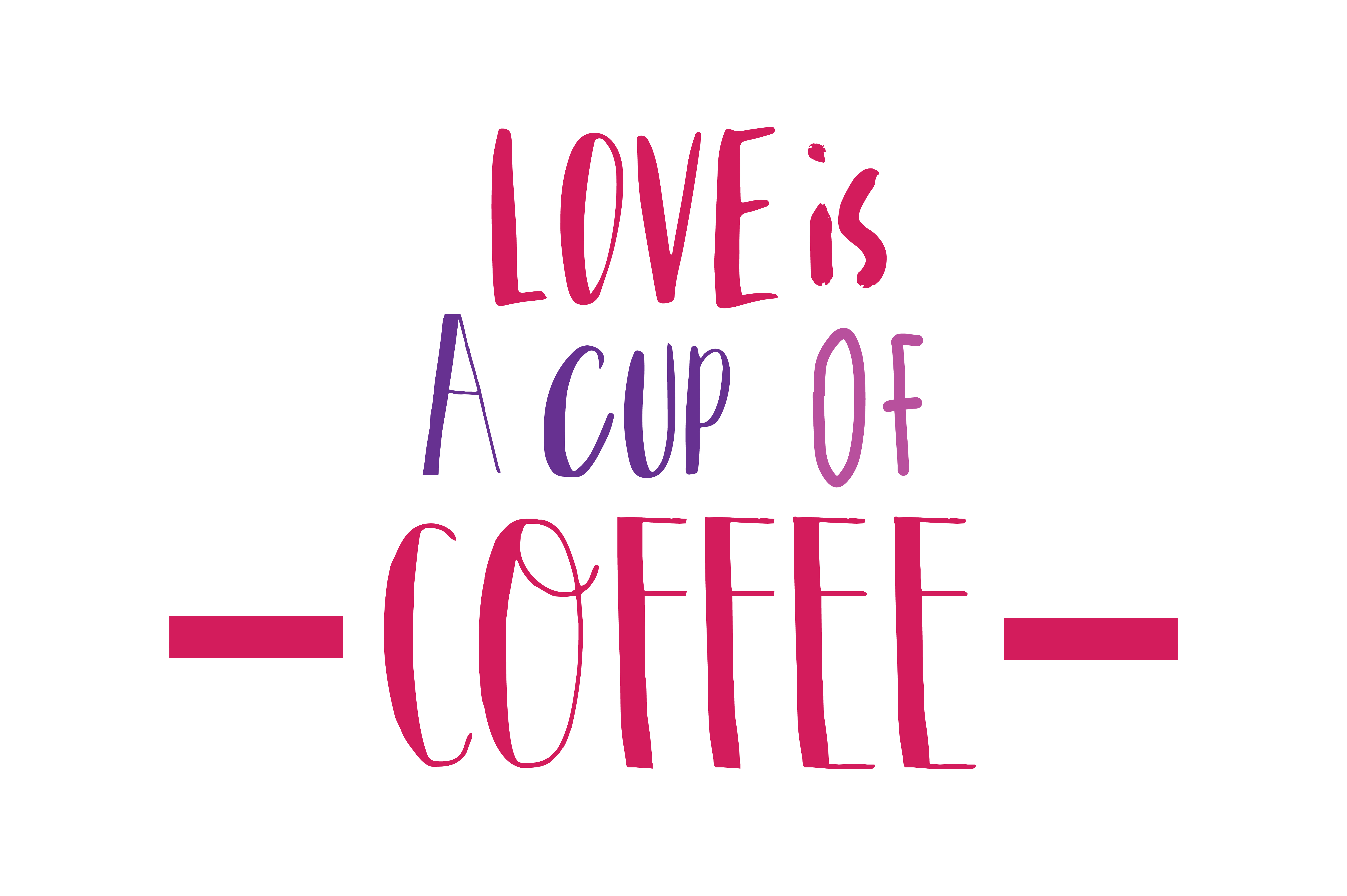 Download Free Love Is A Cup Of Coffee Quote Svg Cut Graphic By Thelucky for Cricut Explore, Silhouette and other cutting machines.