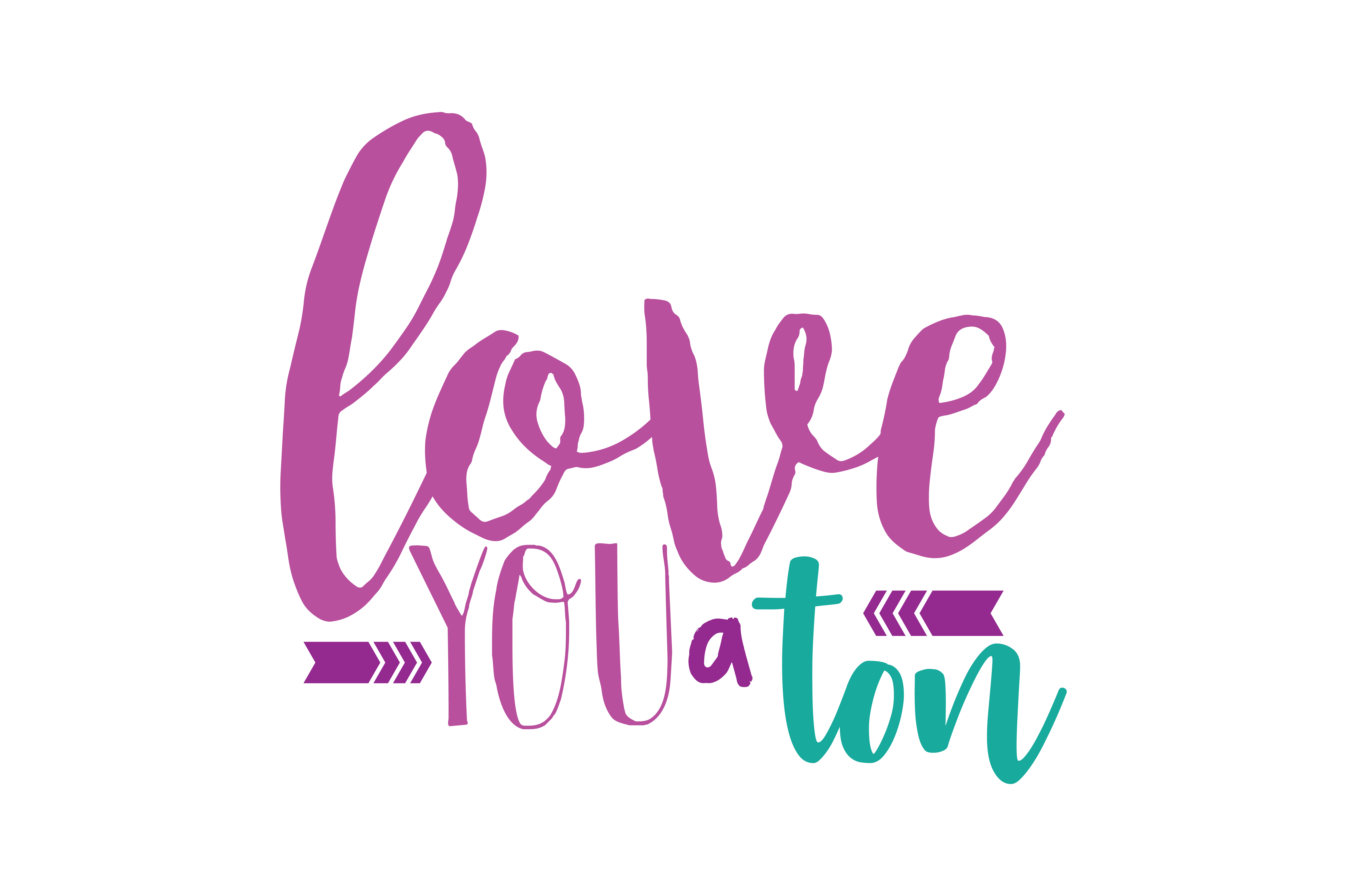 Download Free Love You A Ton Quote Svg Cut Graphic By Thelucky Creative Fabrica for Cricut Explore, Silhouette and other cutting machines.