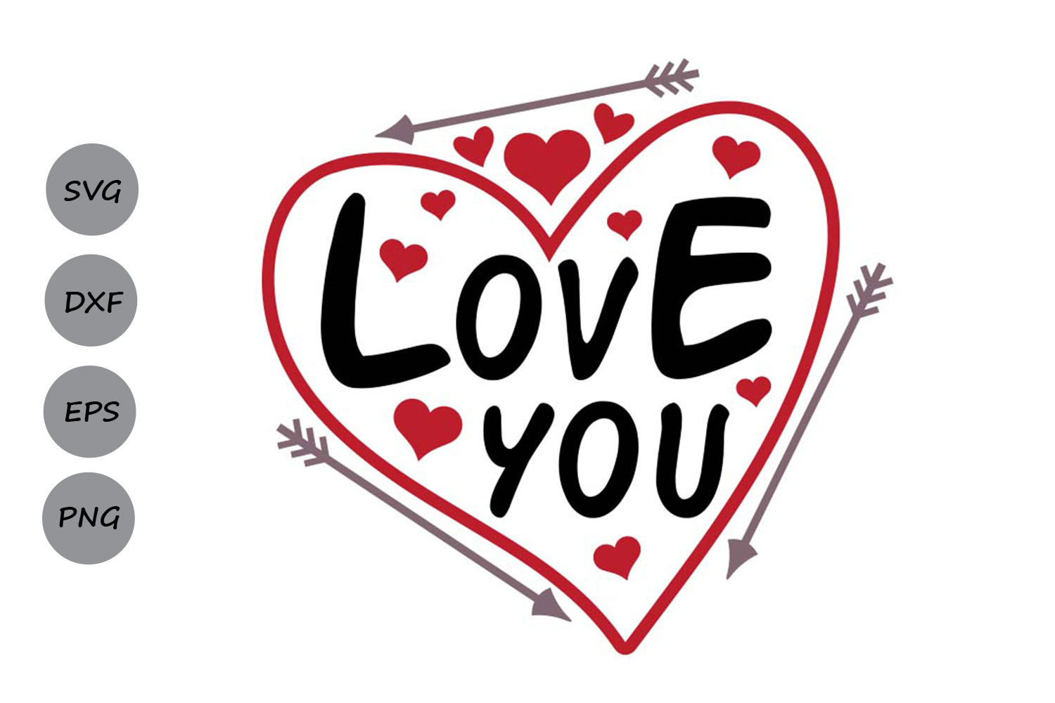 Download Free Love You Graphic By Cosmosfineart Creative Fabrica for Cricut Explore, Silhouette and other cutting machines.