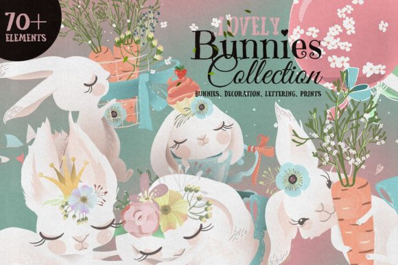 Lovely Bunnies Collection Graphic By Anna Babich