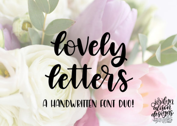 Print on Demand: Lovely Letters Script & Handwritten Font By jordynalisondesigns