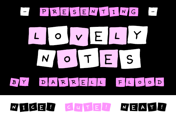 Print on Demand: Lovely Notes Display Font By Dadiomouse