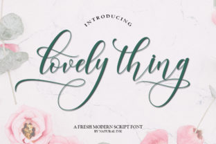 Lovely Thing Font By Natural Ink