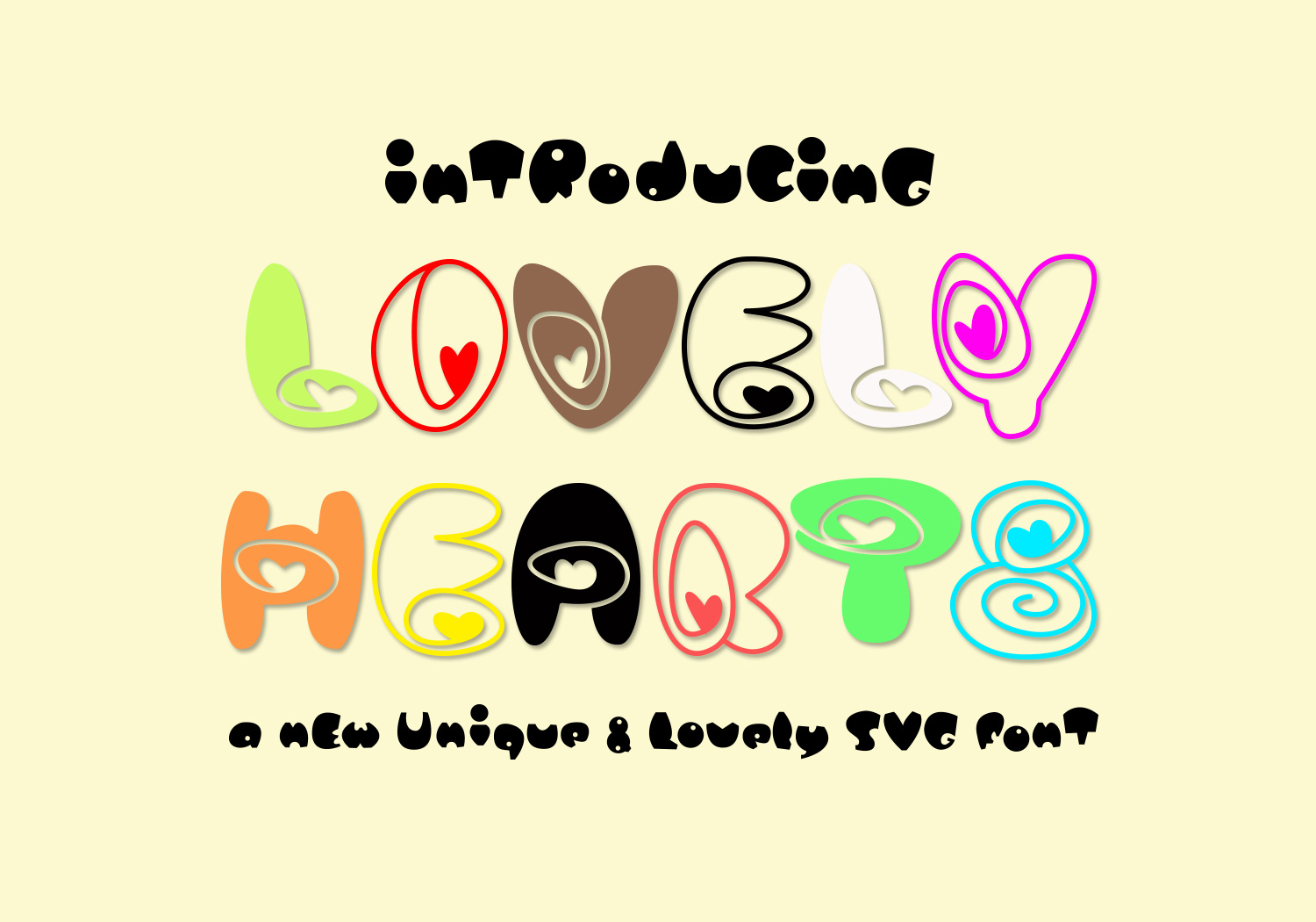 Download Free Lovely Hearts Font Graphic By Midmagart Creative Fabrica for Cricut Explore, Silhouette and other cutting machines.