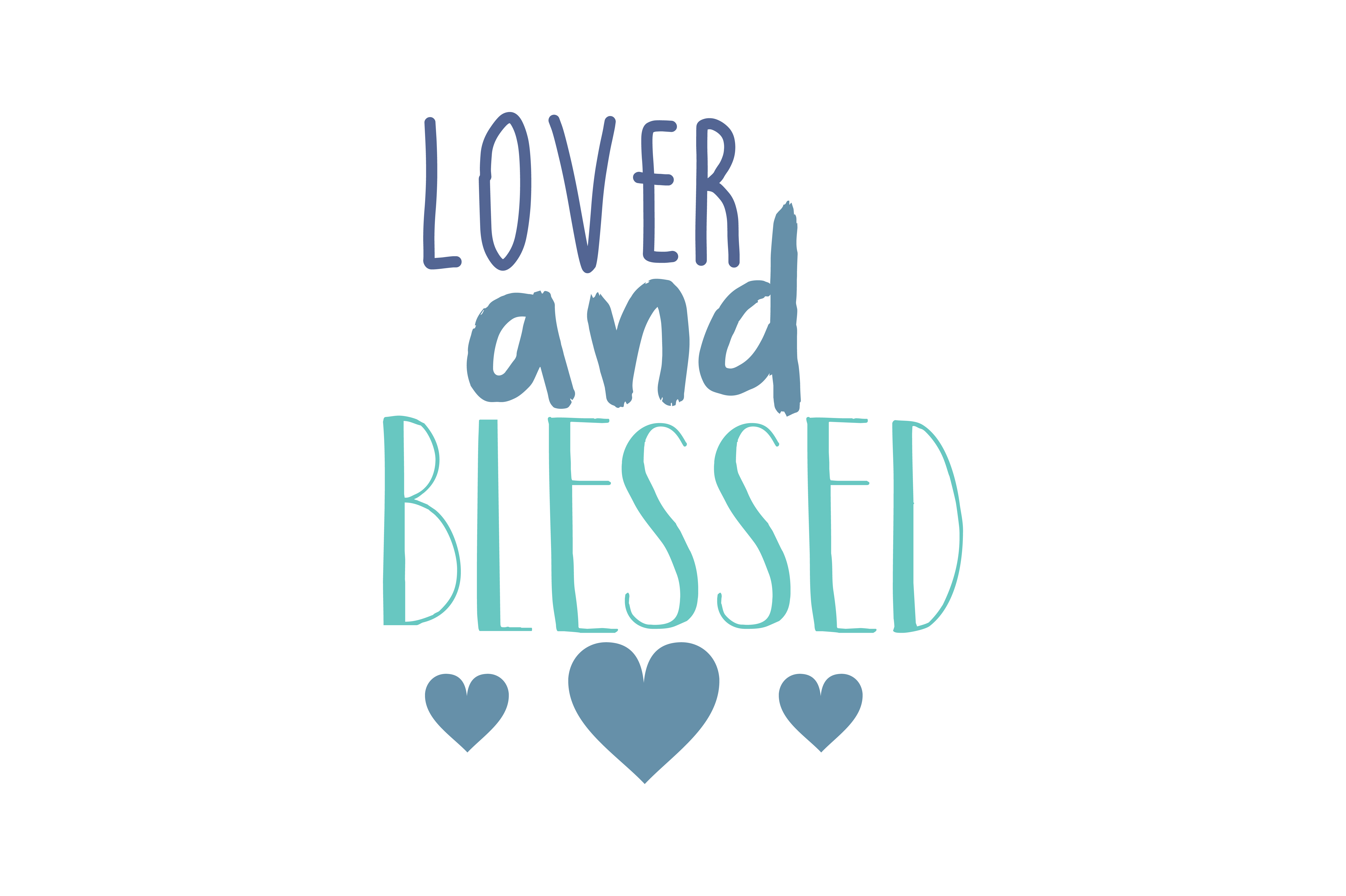 Download Free Lover And Blessed Quote Svg Cut Graphic By Thelucky Creative for Cricut Explore, Silhouette and other cutting machines.