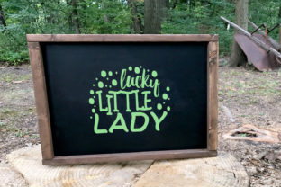 Lucky Little Lady Graphic By summersSVG