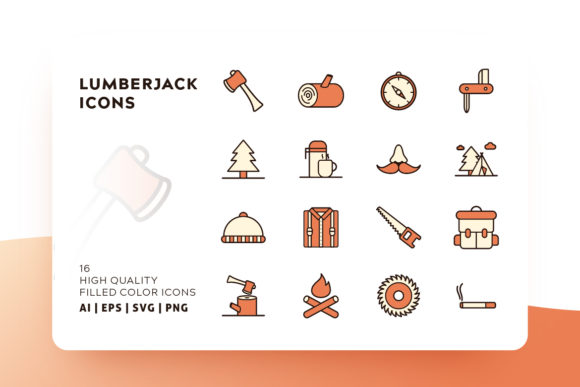 Print on Demand: Lumberjack Icon Pack Graphic Icons By Goodware.Std