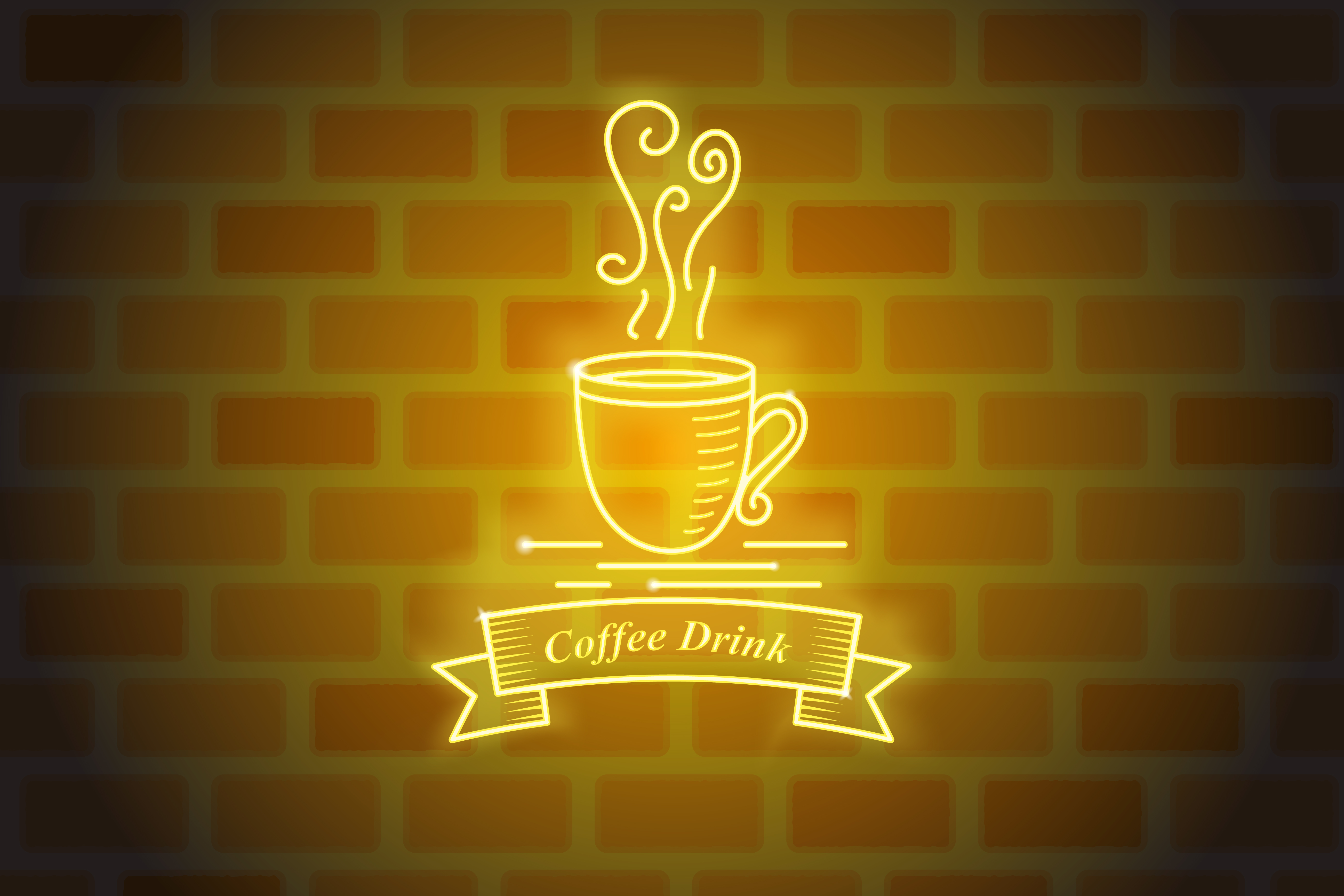 Download Free Luminous Neon Coffee Vector Design Graphic By Sabavector Creative Fabrica for Cricut Explore, Silhouette and other cutting machines.