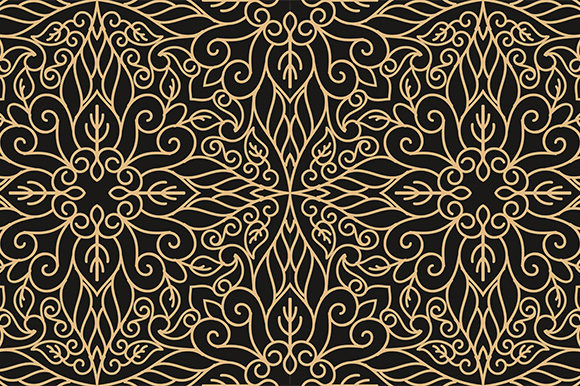 Download Free Luxury Seamless Pattern Graphic By Kotak Kuning Studio for Cricut Explore, Silhouette and other cutting machines.