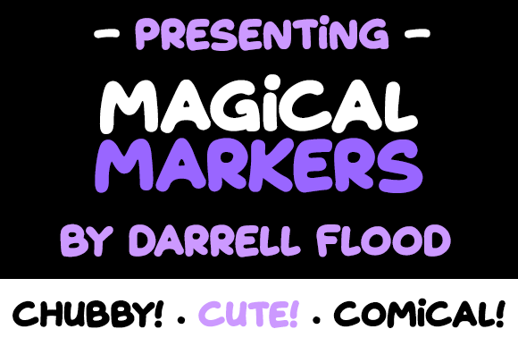 Print on Demand: Magical Markers Display Font By Dadiomouse