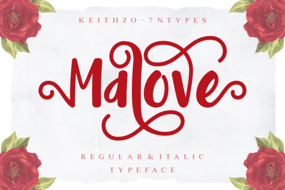 Print on Demand: Malove Script & Handwritten Font By Keithzo (7NTypes) - Image 1