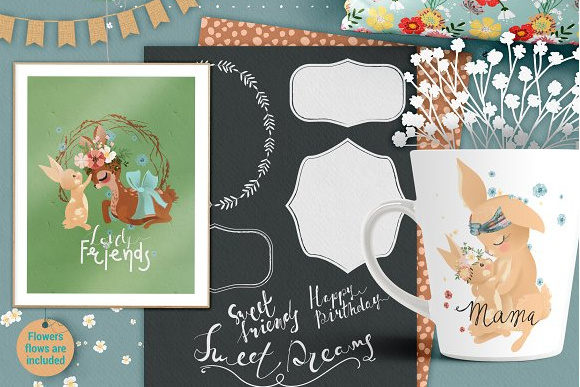 Print on Demand: Mama & Baby Collection Graphic Illustrations By Anna Babich - Image 4