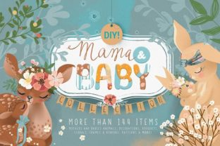 Mama & Baby Collection Graphic By Anna Babich