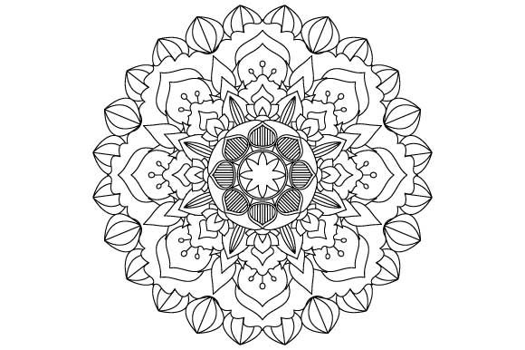 Print on Demand: Mandala Coloring Page Graphic Coloring Pages & Books Adults By GraphicsFarm - Image 1