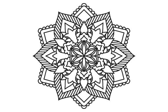 Mandala Coloring Page Graphic Crafts By GraphicsFarm - Image 1