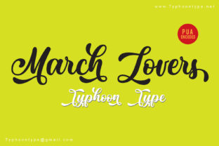 March Lovers Font By Typhoon Type - Suthi Srisopha