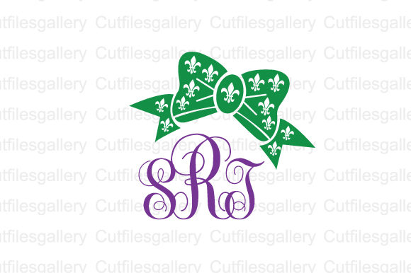 Download Free Mardi Gras Bow Monogram Svg Graphic By Cutfilesgallery SVG Cut Files
