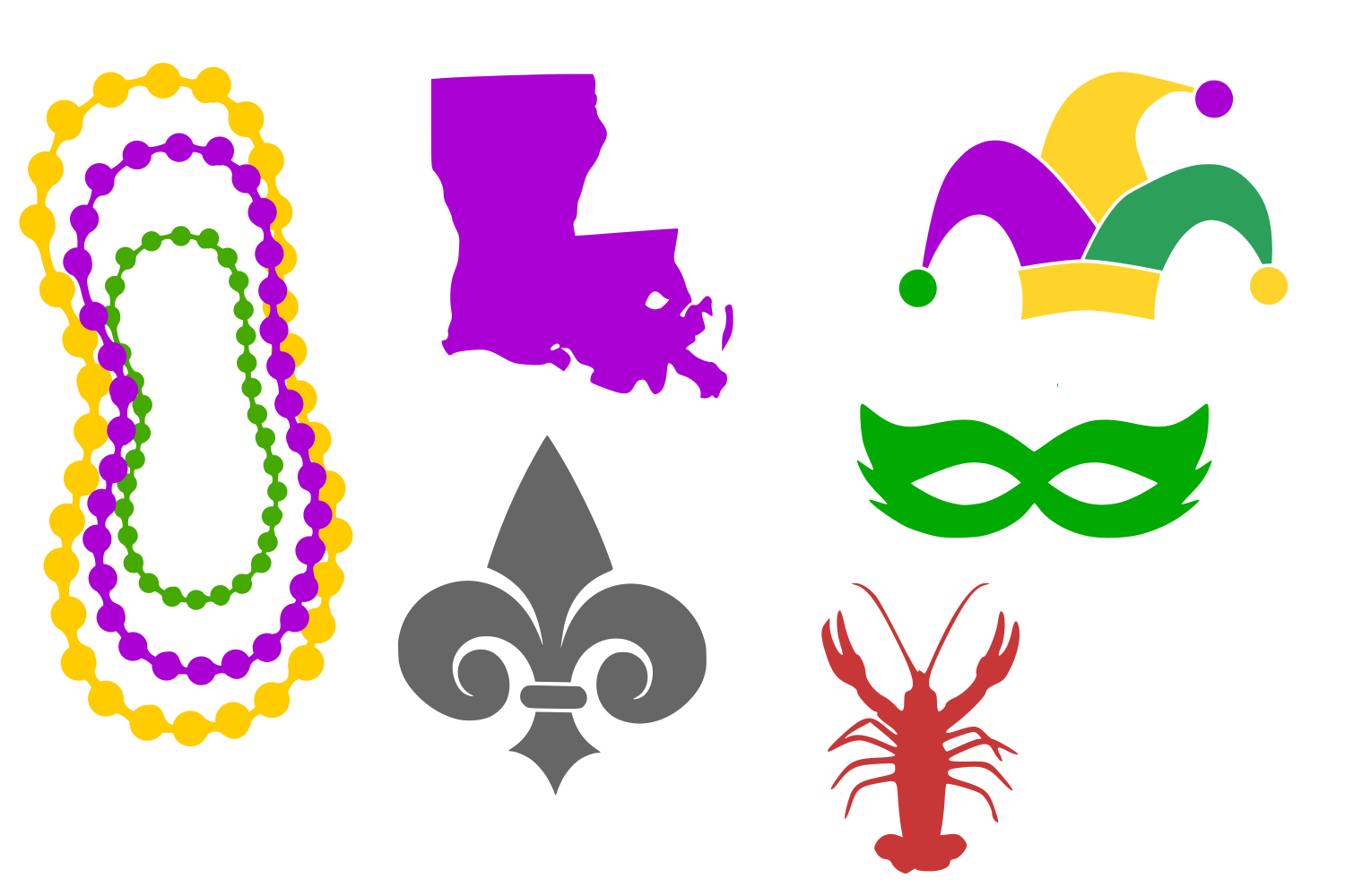 Download Free Mardi Gras Icons Digital Svg Graphic By Auntie Inappropriate for Cricut Explore, Silhouette and other cutting machines.