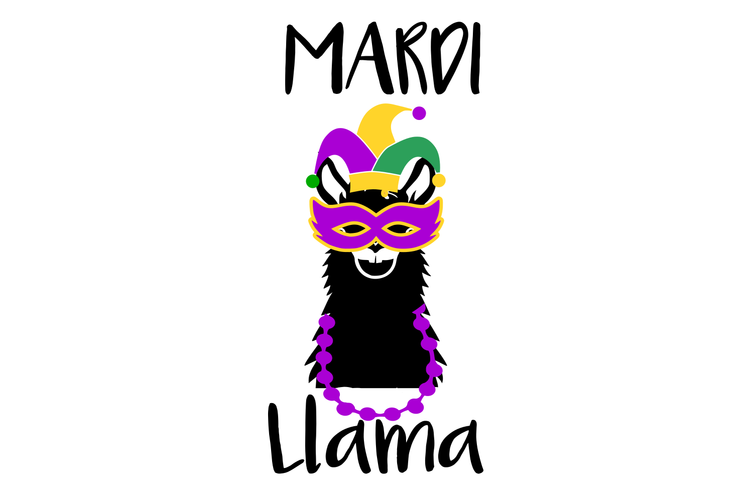Download Free Mardi Gras Llama Digital Svg File Graphic By Auntie for Cricut Explore, Silhouette and other cutting machines.