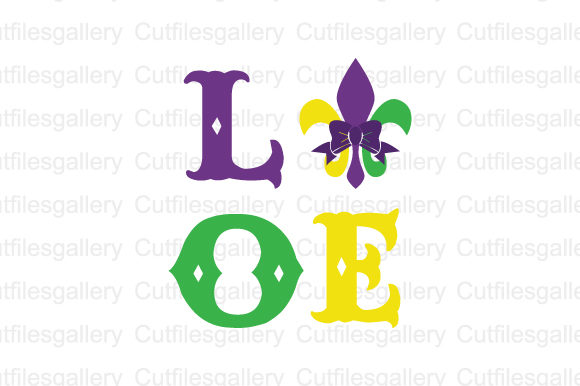 Download Free Mardi Gras Love Svg Graphic By Cutfilesgallery Creative Fabrica for Cricut Explore, Silhouette and other cutting machines.