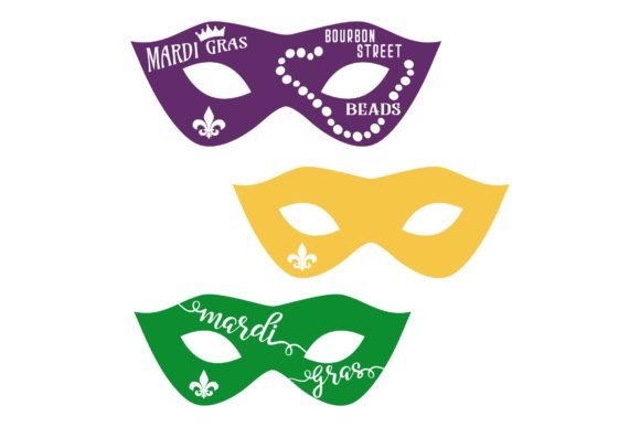 Download Free Mardi Gras Masks Mini Bundle Graphic By Studio 26 Design Co for Cricut Explore, Silhouette and other cutting machines.