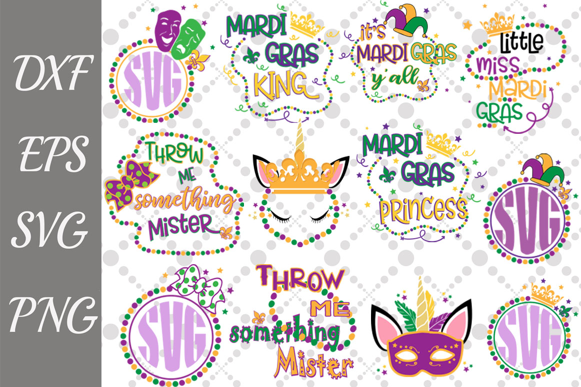 Download Free Mardi Gras Bundle Graphic By Prettydesignstudio Creative Fabrica for Cricut Explore, Silhouette and other cutting machines.