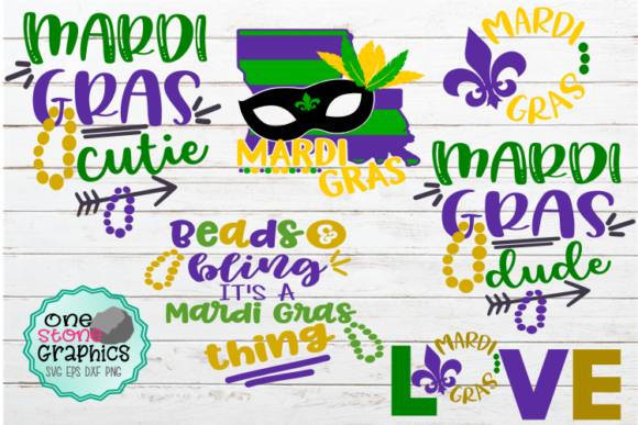 Mardi Gras SVG Bundle Graphic Crafts By OneStoneGraphics