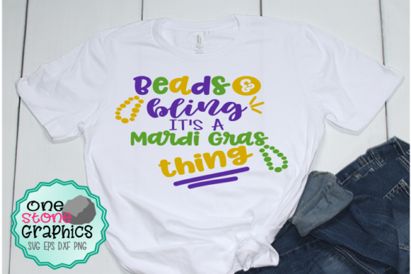 Mardi Gras Svg Graphic Crafts By OneStoneGraphics