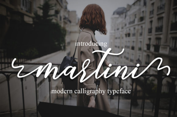 Print on Demand: Martini Script Script & Handwritten Font By Mrletters