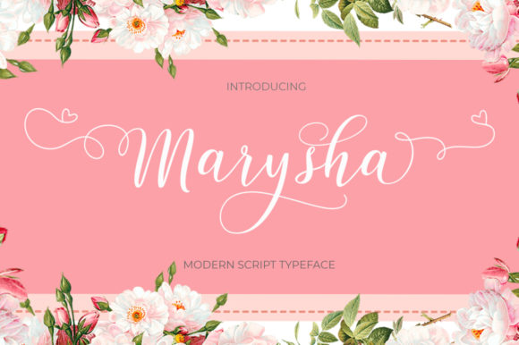 Print on Demand: Marysha Script Script & Handwritten Font By typehill