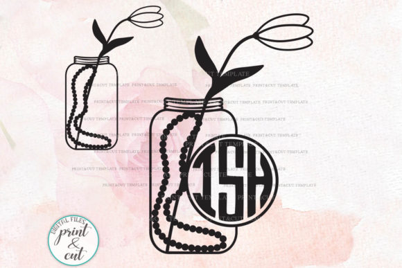 Download Free Mason Jar Graphic By Cornelia Creative Fabrica for Cricut Explore, Silhouette and other cutting machines.