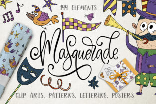 Masquerade. Mardi Gras Graphic Pack. Graphic By Red Ink