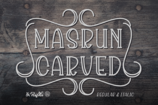 Masrun Carved Font By Rifki (7ntypes)