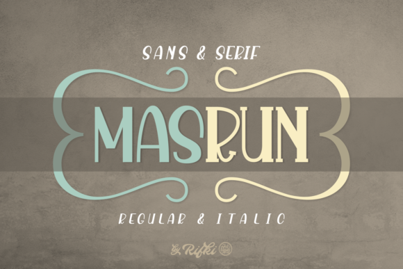 Print on Demand: Masrun Sans Serif Font By Rifki (7ntypes) - Image 1